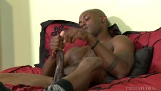 Osiris Blade enjoys wanking himself off