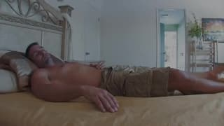 Frantic and sweaty sex leads to creampie