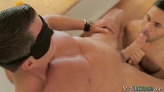 Conner Habib and Tyler Saint massage together