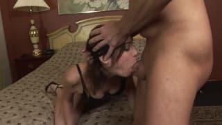 Amber Ryan loves to gag on big cock