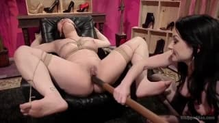 MILF mistress punishing her lesbian