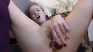 Busty Ir Housewife toy blowjob sucking cam show
