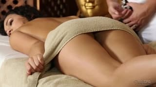 Hot girl getting a sexy hot massage