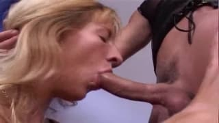 A bisexual video with deep dick sucking