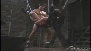Max Grand and Tony Cummings enjoy themselves