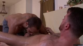 Brendan Patrick and Brock Avery suck deeply