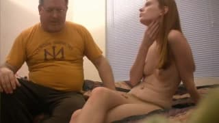 Fat guy gets it on with you babe in tights
