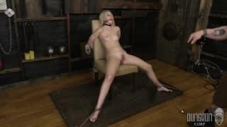 Kinky blonde enjoying some BDSM with her man