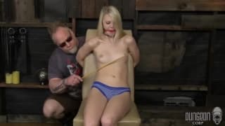 Kinky blonde enjoying some BDSM with her man