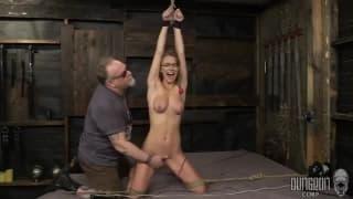 Blonde young slut enjoys this BDSM sesison