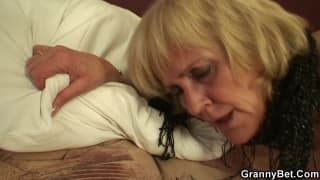 Granny getting fucked hard by a young man