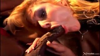 Crystal Ray takes on two big black cocks
