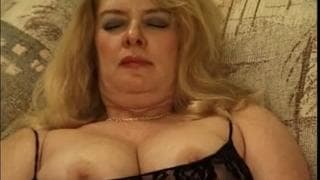 Mature BBW getting fucked by two young guys