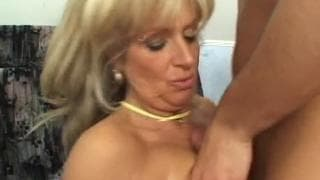 Young guy hires a very mature escort