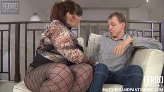 Busty MILF gets pounded and creampied
