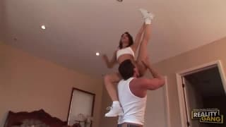 Waking dad up for incredible acrobatic sex