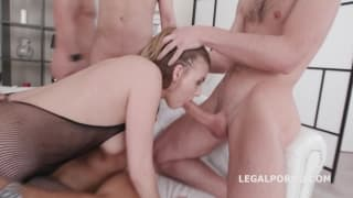 Full length extreme anal gang bang scene