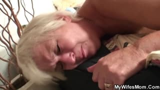 Amazing blonde MILF mom getting dicked hard