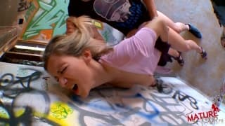 Nathalie Bonnin getting fucked outside hard