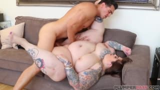 Huge fat girl is fucked by sexy stud