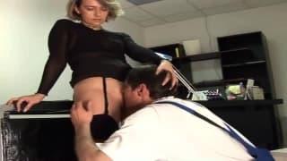 Derector blonde in real casting porn