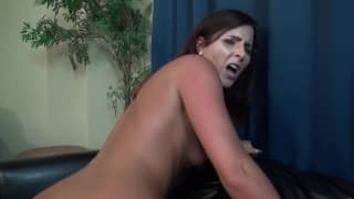 Helena Price enjoys her step-son at home