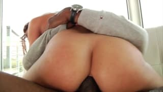 Mischa Brooks interracial butt fucking