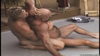 Hot wrestling session which gets kinky