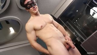 Ricky fucks his sextoy until he cums