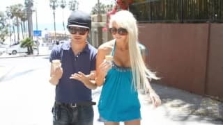 Blonde Rikki Six fucked by Asian guy