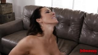 Mature brunette enjoy nothing but two cocks