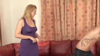 Young guy fucks his girlfriend and her mom anal