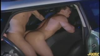 Rob and Brad ass fuck in the car tonight