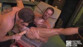 Colin Steele and Bo Matthews fist fucking