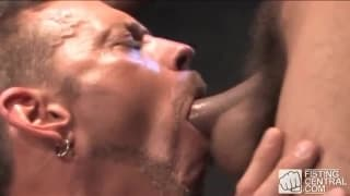 Antonio Biaggi and Colin Steele suck deeply