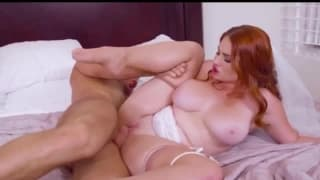 Dirty redhead bride caught masturbating