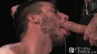 Nick Moretti and Logan Scott in a BDSM scene