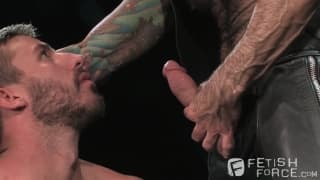 Nick Moretti and Logan Scott in a BDSM scene