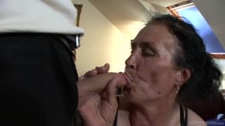 Olg grandma gets fucked by young guy