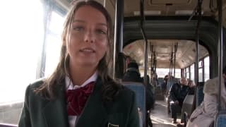 Young girl has anal sex on the public bus