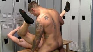 Billy Warren and Caleb Troy feeling pleasure