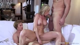 Brandi love having threesome so much