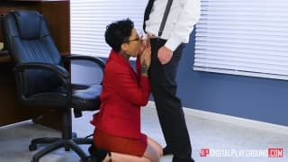 Intern gets fucked on her first day
