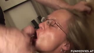 Mature boss lady takes it in the ass