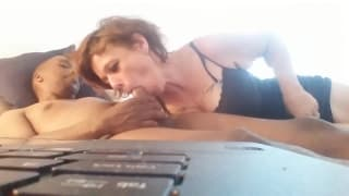 Polly marie sanders sucks black and swallows