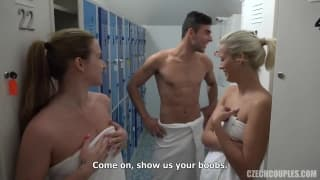 This group session take place in a sauna
