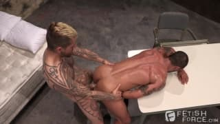 David penetrates Logan McCree's ass