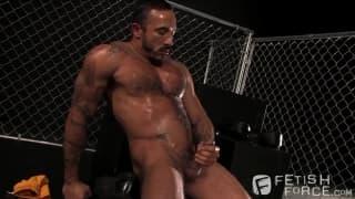 Alessio Romero jerks his big dick off outside