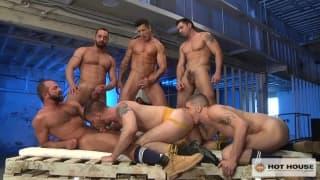 Several professional gay actors together