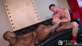 Leo Forte masturbates Brian with his feet
